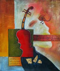 paint dream violinist dream abstract oil painting art paint king