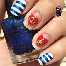 nautical sailor charm nails the crafty ninja