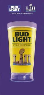 bud light touchdown glass app super bowl lii 52 bud light led touchdown glass 24oz
