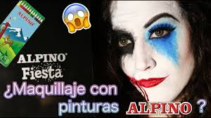 Halloween Makeup Joker by Me Maquillo Con Pinturas Alpino Halloween Makeup Joker