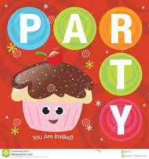 Cherry Cupcake Invitation Card Royalty Cupcake Party Invitation Royalty Free Stock Image Image 9987916