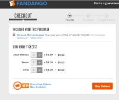 free cheap movie tickets w visa checkout fandango