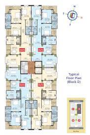 sdc gateway flats for sale in sdc gateway at bani park by sdc sdc gateway typical floor plan block d