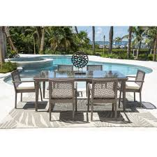 Patio Table And 6 Chairs Panama Maldives 7 Dining Set 6 Chairs Dining Table