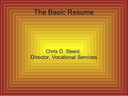 Resume For Job The Basic Resume For Job Seeking
