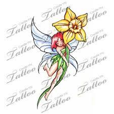 Fairy And Flower Tattoo Designs Narcis Tattoo Google Zoeken Flower Pinterest Daffodil