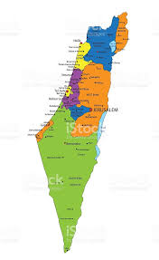 political map of israel colorful israel political map with clearly labeled layers stock