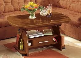 Wohnzimmertisch Klassisch Couchtisch Höhenverstellbar Ausziehbar Farben Wählbar Tisch