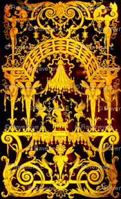 gold flowers baroque rococo neoclassical squirrels monkeys vines gates gold