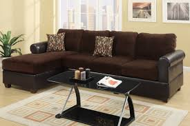 sofa with reversible chaise lounge chocolate microfiber sectional sofa set with chaise s3net