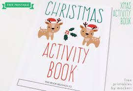 Printable Halloween Activity Book Free Printable Christmas Activity Book