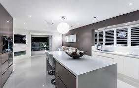 Modern Luxury Kitchen With Granite Countertop Modern Kitchen With Dark Gray Cabinets White Solid Surface