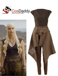 Daenerys Targaryen Costume Of Thrones Queen Daenerys Targaryen Cosplay Daily Brown Dress