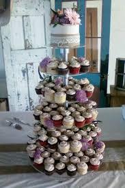 burlap lace cupcake tree