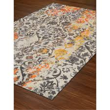 8 x 11 large orange u0026 gray area rug modern grays rc willey