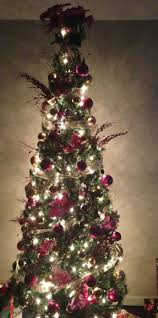 woodland slim pre lit christmas tree christmas lights decoration