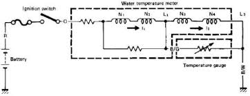 a typical water temperature sensor circuit diagram in a motorcycle