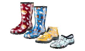 groupon s boots sloggers farm themed s garden shoes or boots groupon