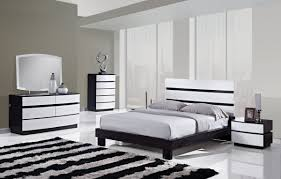 fantastic mid century black and white bedroom design with bay