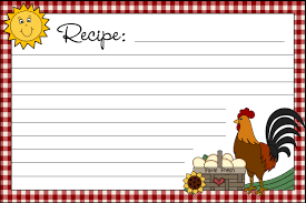 free printable recipe cards country clipart by