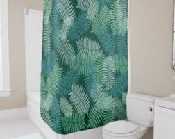 fern shower curtain etsy
