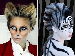 Fashion Halloween Makeup by Animal Halloween Makeup Inspiration Image People Illustration