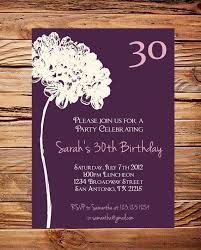 20 interesting 30th birthday invitations themes u2013 wording samples
