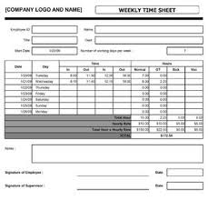 weekly time sheet open office templates