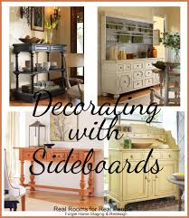 decorating with sideboards and buffets