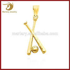 gold plated cross necklace images Custom 18k gold plated stainless steel cross jewelry baseball bat jpg