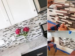 kitchen backsplash diy tile backsplash easy kitchen backsplash