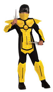 Halloween Costumes Mortal Kombat Amazon Child U0027s Yellow Ninja Costume Medium Toys U0026 Games
