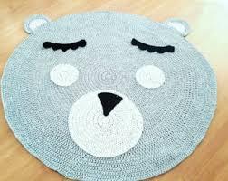 crochet animal rug etsy