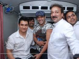 Aamir And Salman Khan At Blood Donation Drive At Bandra House