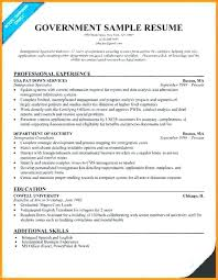 government resume exles government resume sles
