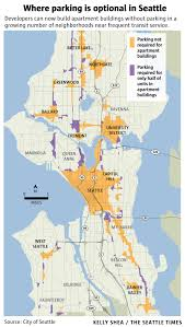 Seattle City Limits Map by Seattle Builds Lots Of New Apartments But Not So Many Parking