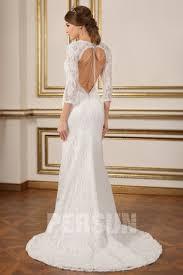 robe de mariã e dentelle dos robe de mariée sirène dos nu manche trois quart en dentelle