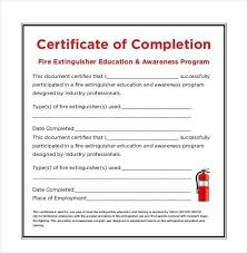 certificate of completion of training template training