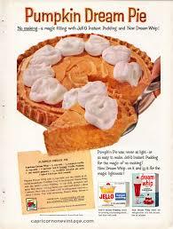 vintage 1959 jello dream whip magazine ad pumpkin dream pie recipe