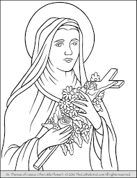 st therese of lisieux coloring page eson me