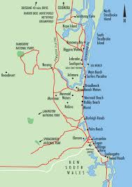 coast map gold coast maps gold coast australia