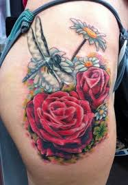 rose garden tattoo by betty b adrenaline vancity color tattoos