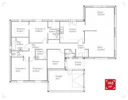 plans maison plain pied 4 chambres plan maison 6 chambres plain pied idées décoration intérieure