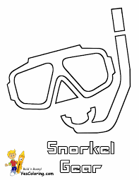 snorkels coloring pages coloring home