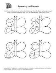 symmetry worksheets for kindergarten insects and symmetry