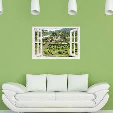 sticker trompe oeil sticker muraux trompe l u0027oeil sticker mural parc verdoyant