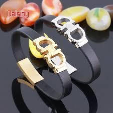 fashion charm leather bracelet images Rocgenuine leather men bracelet bangle black 316l bracelet jpg