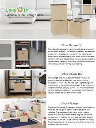 amazon com lifewit foldable cube storage bins polyester storage