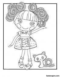 silly hair jewel sparkles lalaloopsy coloring printable