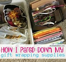 wrapping supplies how i pared my gift wrapping supplies andrea dekker